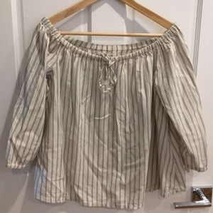 Madewell off the shoulder blouse